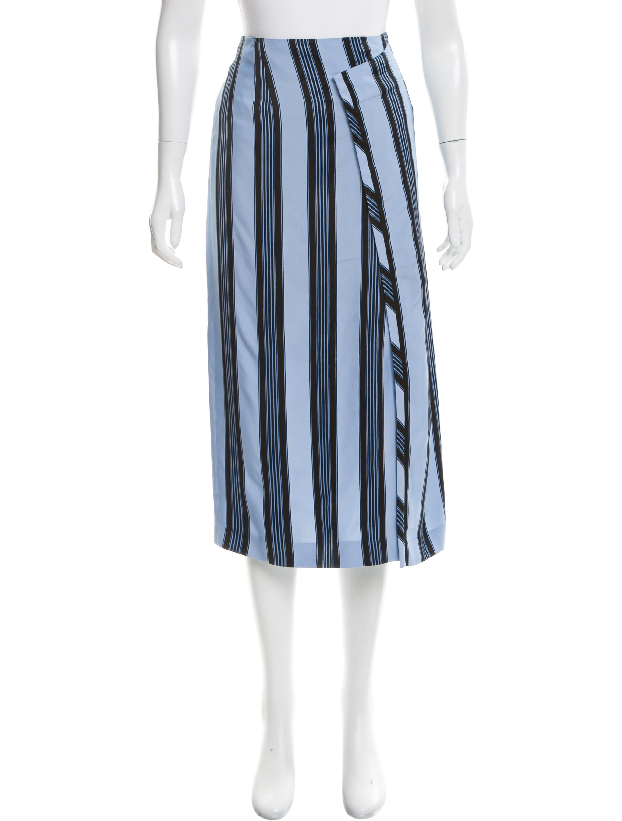 acne striped midi skirt clothing acn29219 the realreal