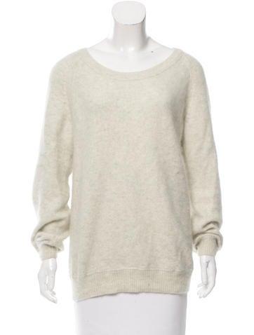 Acne Studios Rib Knit Angora Sweater None
