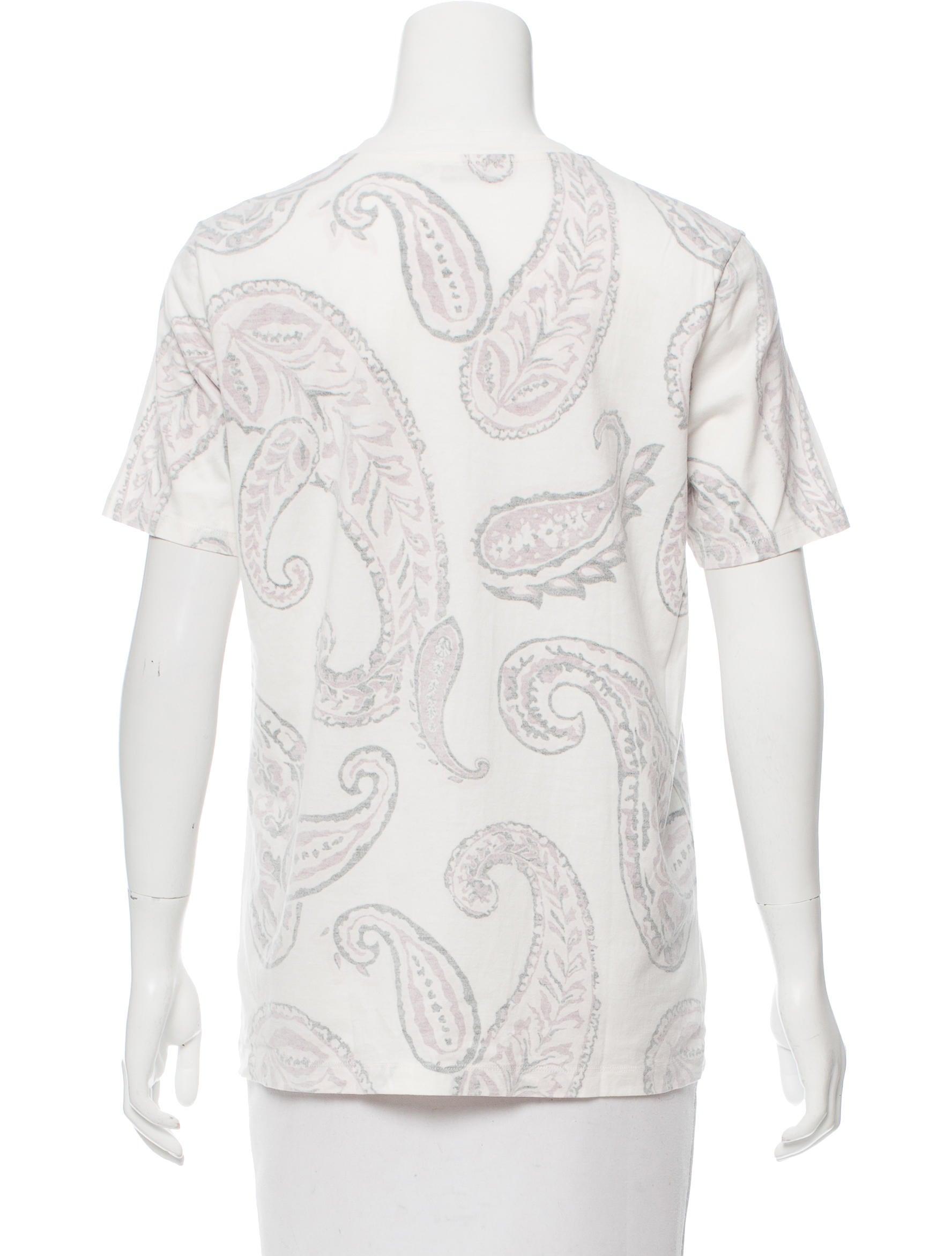 Acne Studios Paisley Print T Shirt Clothing Acn30068