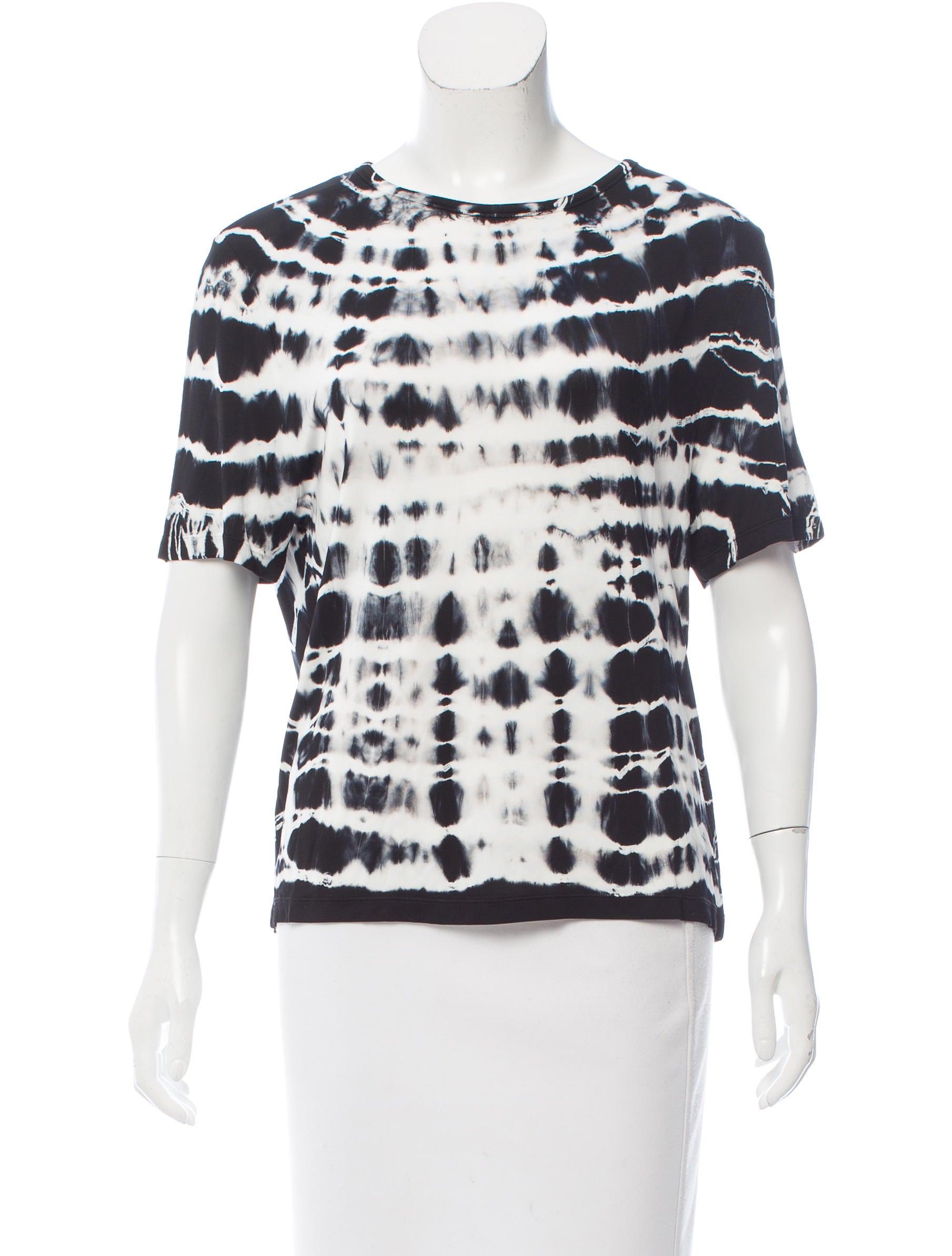 Acne Studios Short Sleeve Tie Dye T Shirt Clothing
