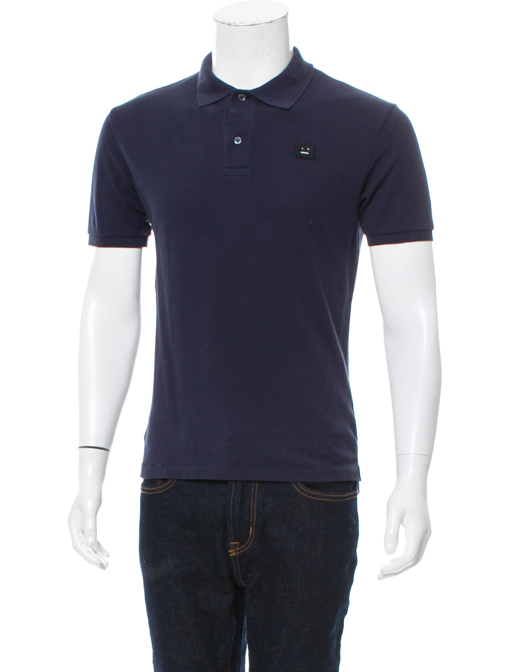 Acne studios logo embroidered polo shirt clothing for Shirt with logo embroidered