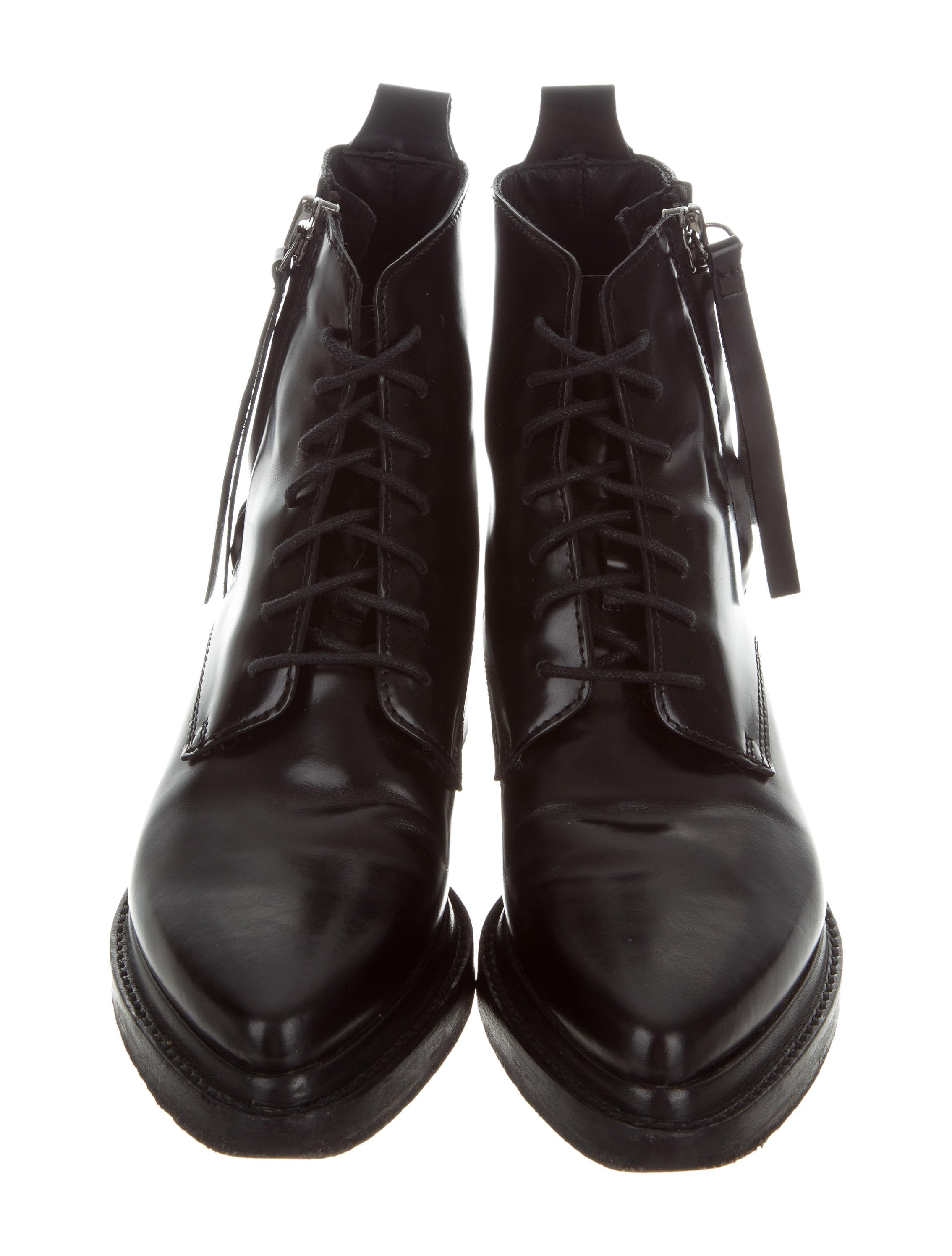 acne studios leather lace up ankle boots shoes