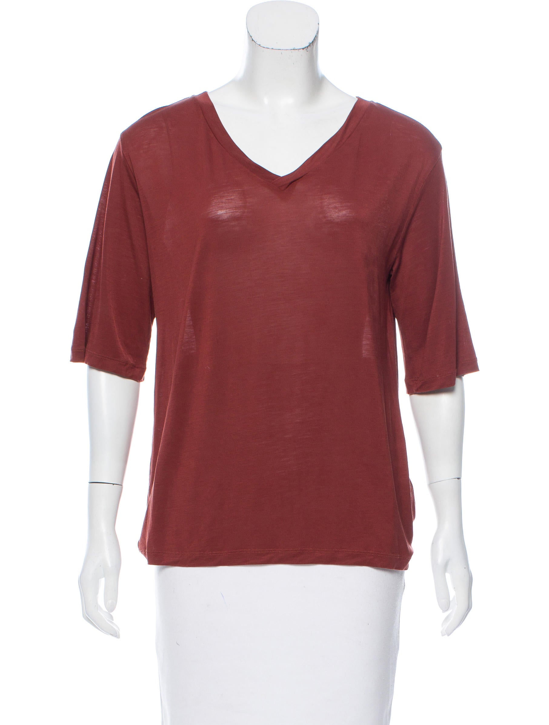 Acne Studios V Neck Short Sleeve T Shirt Clothing