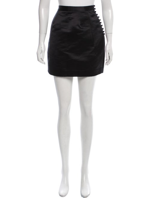 Acne Studios Satin Willow Skirt Black