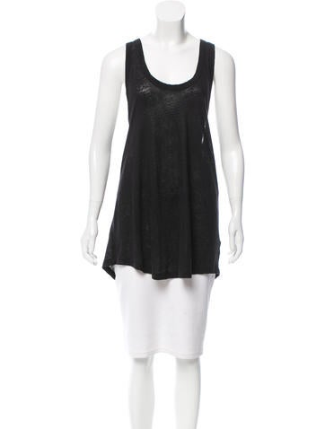 Acne Studios Belief Linen Sleeveless Top None