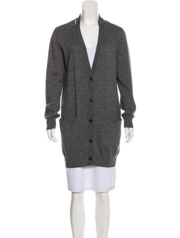 Acne Studios Long Sleeve Wool Cardigan None