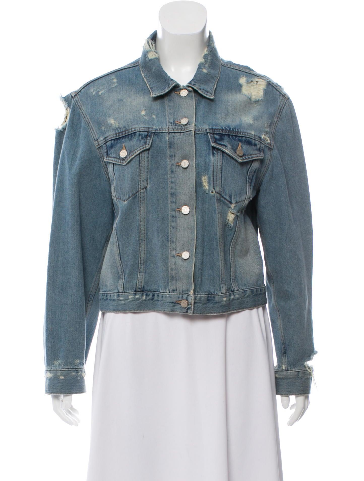 8de3d444e88 Acne Studios Distressed Denim Jacket - Clothing - ACN40515