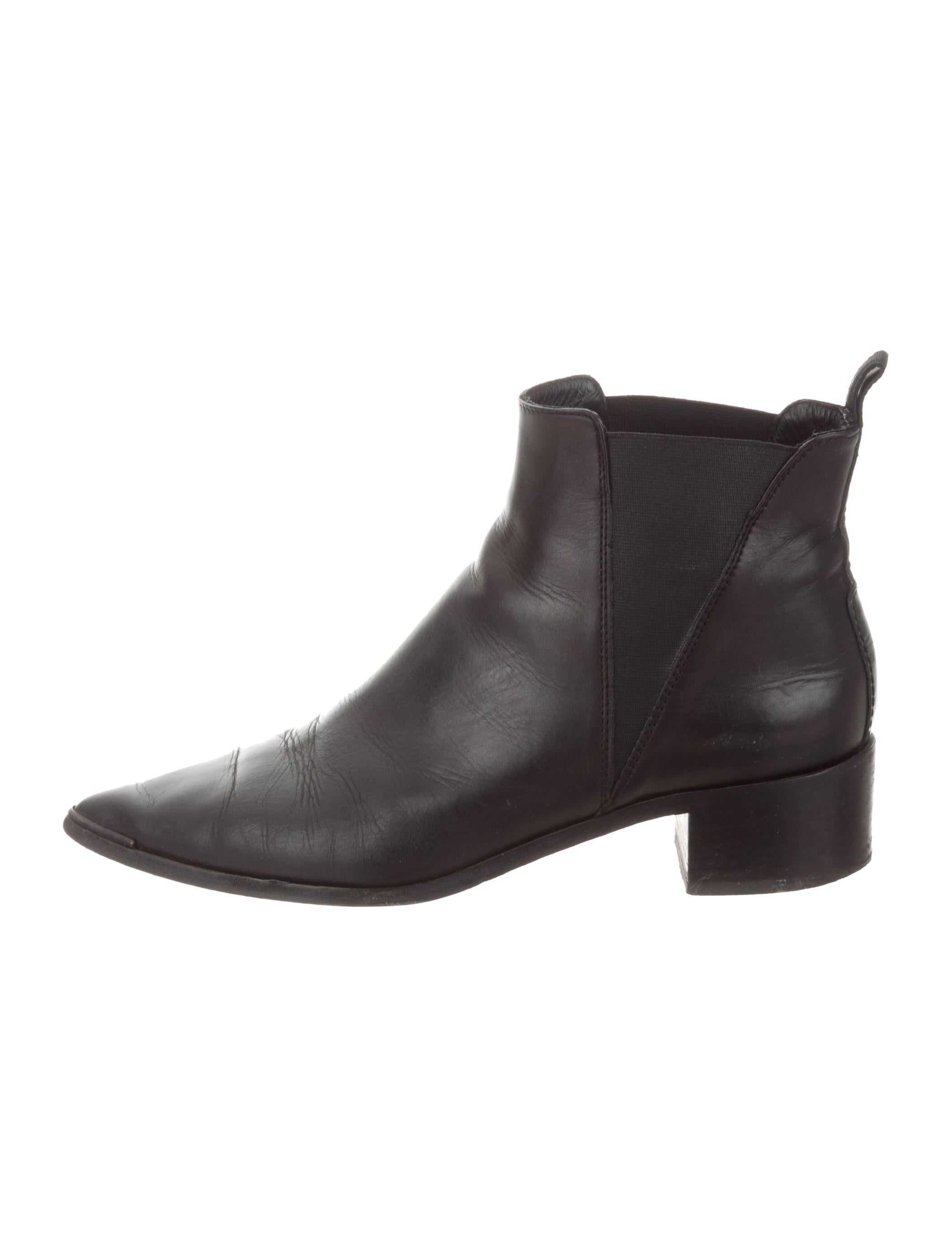 Pointed Toe Leather Ankle Boots by Acne Studios