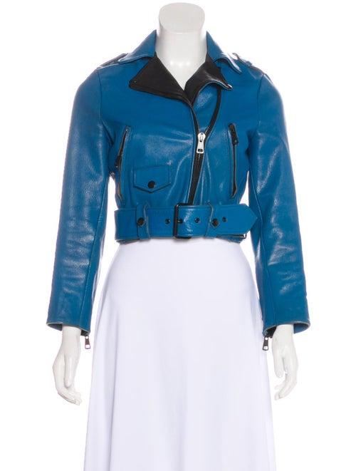 Acne Studios Acne Studios Leather Biker Jacket Blu