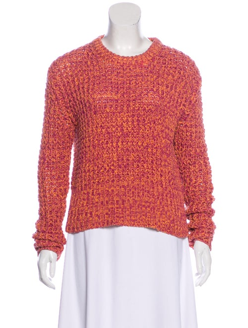 Acne Studios Long Sleeve Knit Sweater coral
