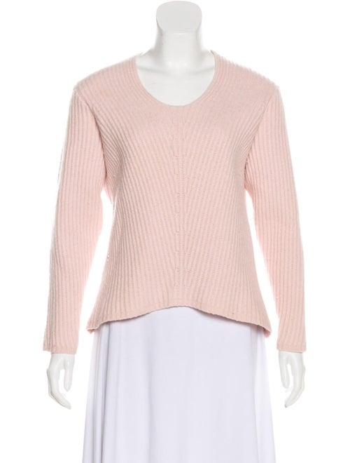 Acne Studios Wool Rib Knit Sweater Pink