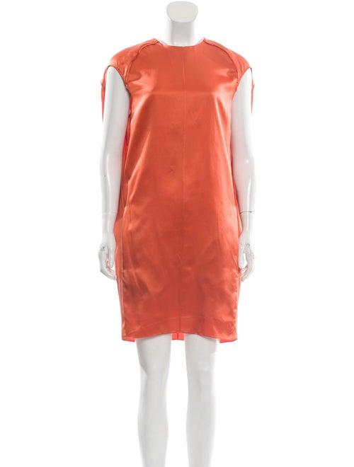 Acne Studios Silk Mini Dress Orange