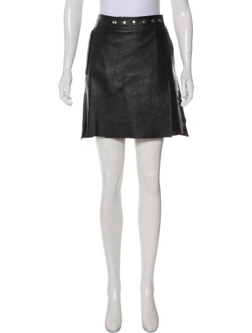 Acne Studios 2018 Shiryn Leather Skirt Black
