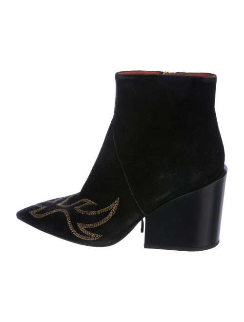 Acne Studios Embroidered Ankle Boots Black