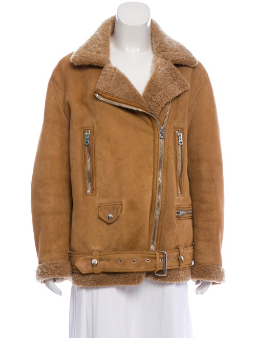 Acne Studios Suede Shearling-Trimmed Jacket