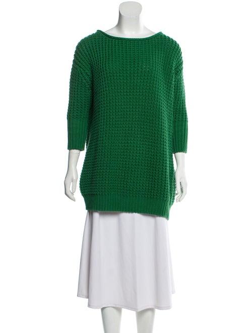 Acne Studios Long Sleeve Knit Sweater Green