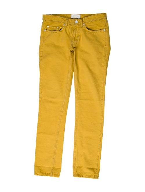 Acne Studios Woven Skinny Jeans yellow