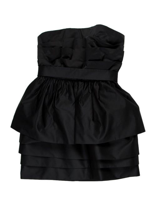 Acne Studios Strapless Mini Dress Blue