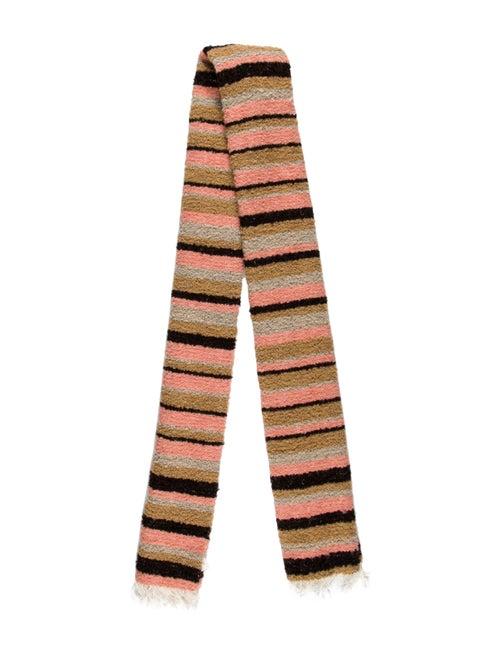Acne Studios Knit Striped Scarf Pink