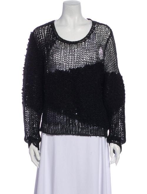 Acne Studios Scoop Neck Sweater Black