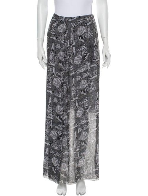 Acne Studios Printed Long Skirt Grey