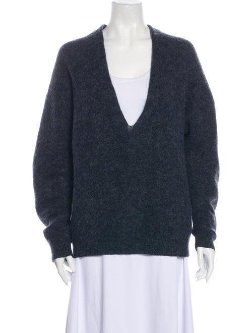 Acne Studios Plunge Neckline Sweater Blue