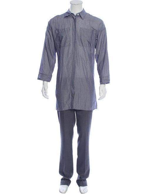 Acne Studios Striped Woven Shirt blue