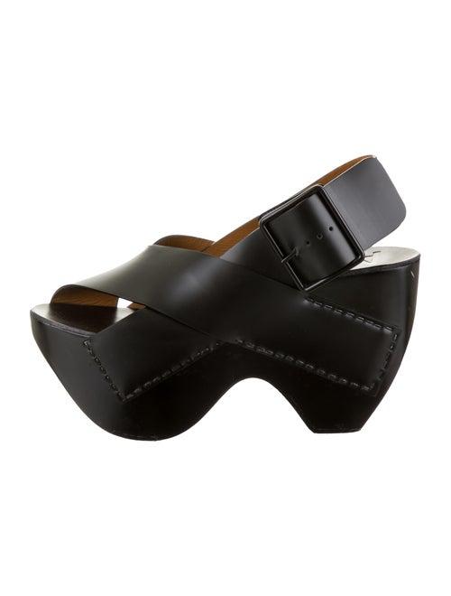 Acne Studios Leather Sandals Black
