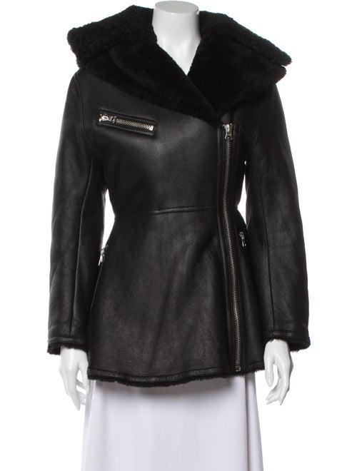Acne Studios Shearling Biker Jacket Black