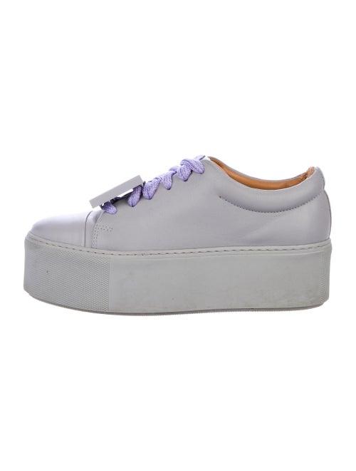 Acne Studios Adrianna Leather Sneakers Grey