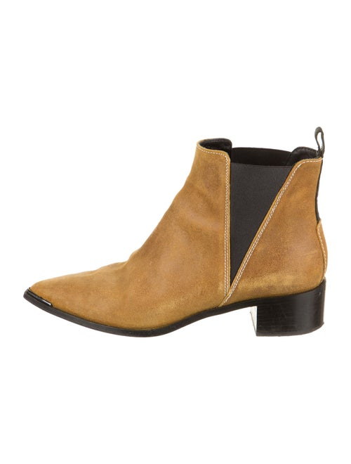Acne Studios Suede Pointed-Toe Ankle Boots