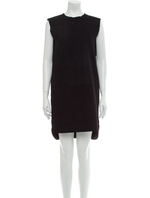 Acne Studios Goat Leather Knee-Length Dress Black