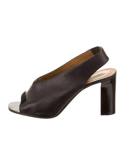 Acne Studios Leather Slingback Sandals Black