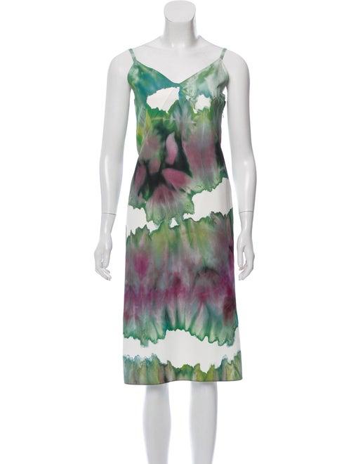 Acne Studios Abstract Midi Dress Green