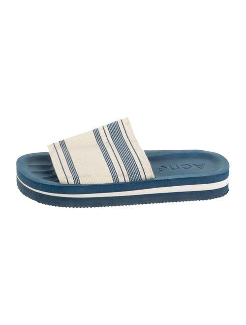 Acne Studios Knit Slide Sandals Blue