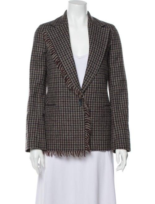 Acne Studios Wool Plaid Print Blazer Wool