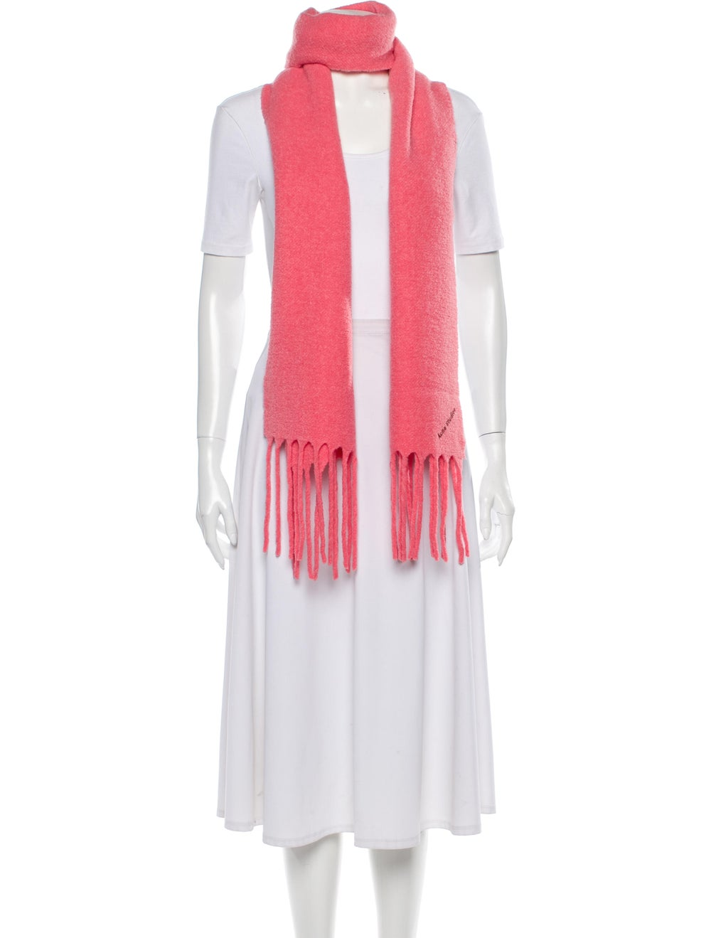 Acne Studios Villy Knit Scarf Pink - image 3