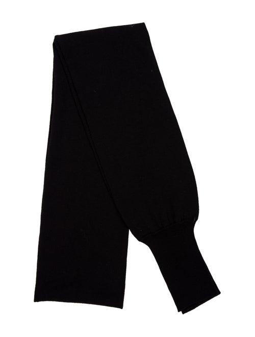 Acne Studios Wool Knit Scarf Black