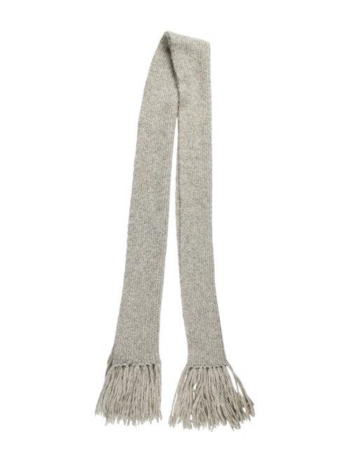 Acne Studios Knit Fringe Skirt Grey