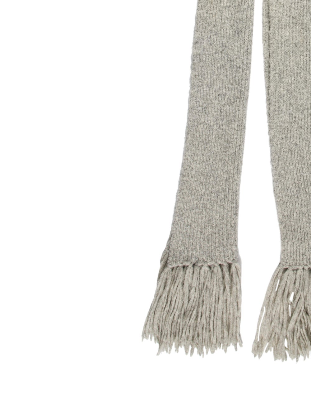 Acne Studios Knit Fringe Skirt Grey - image 2