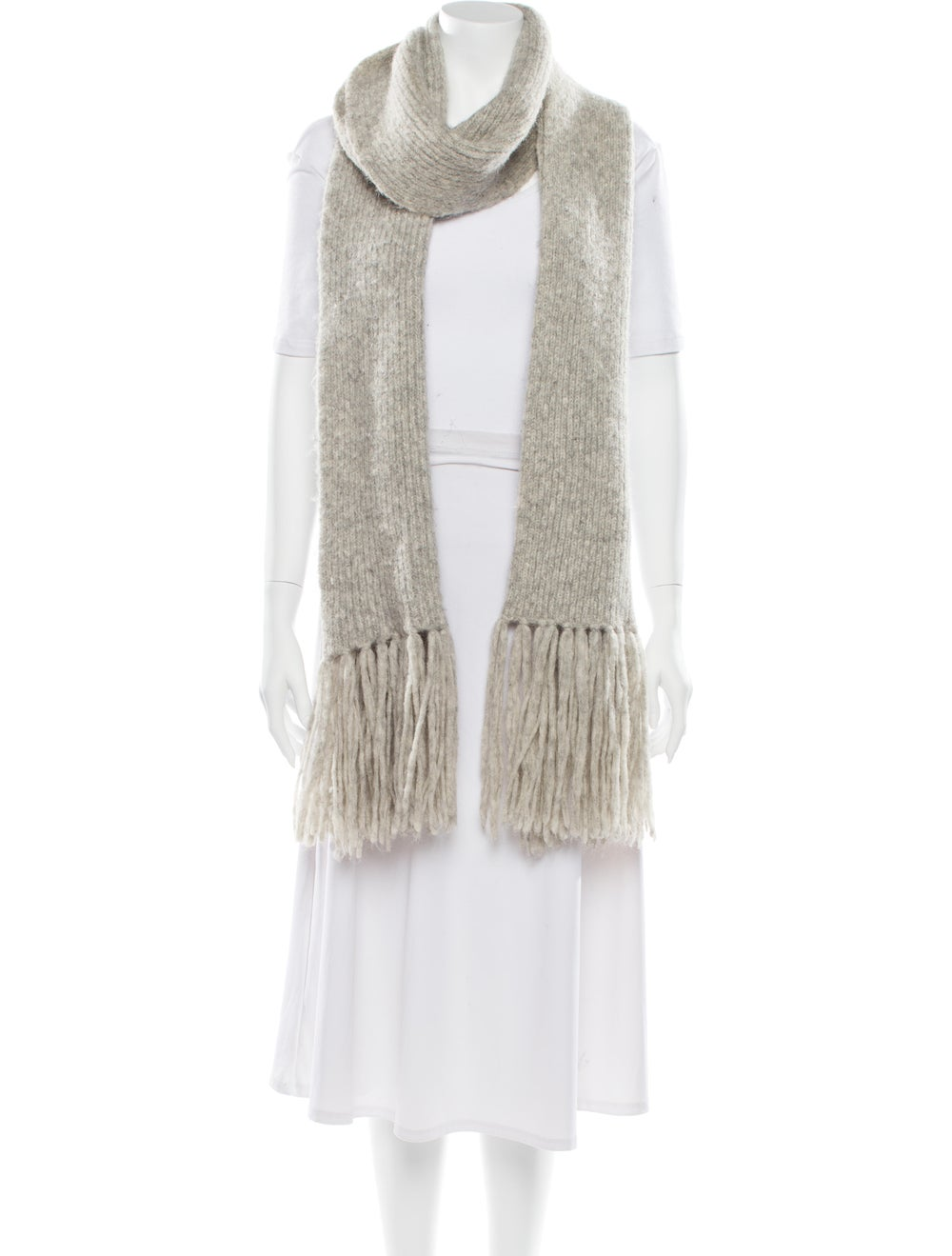 Acne Studios Knit Fringe Skirt Grey - image 3