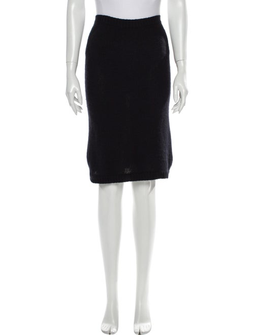 Acne Studios Angora Knee-Length Skirt Black