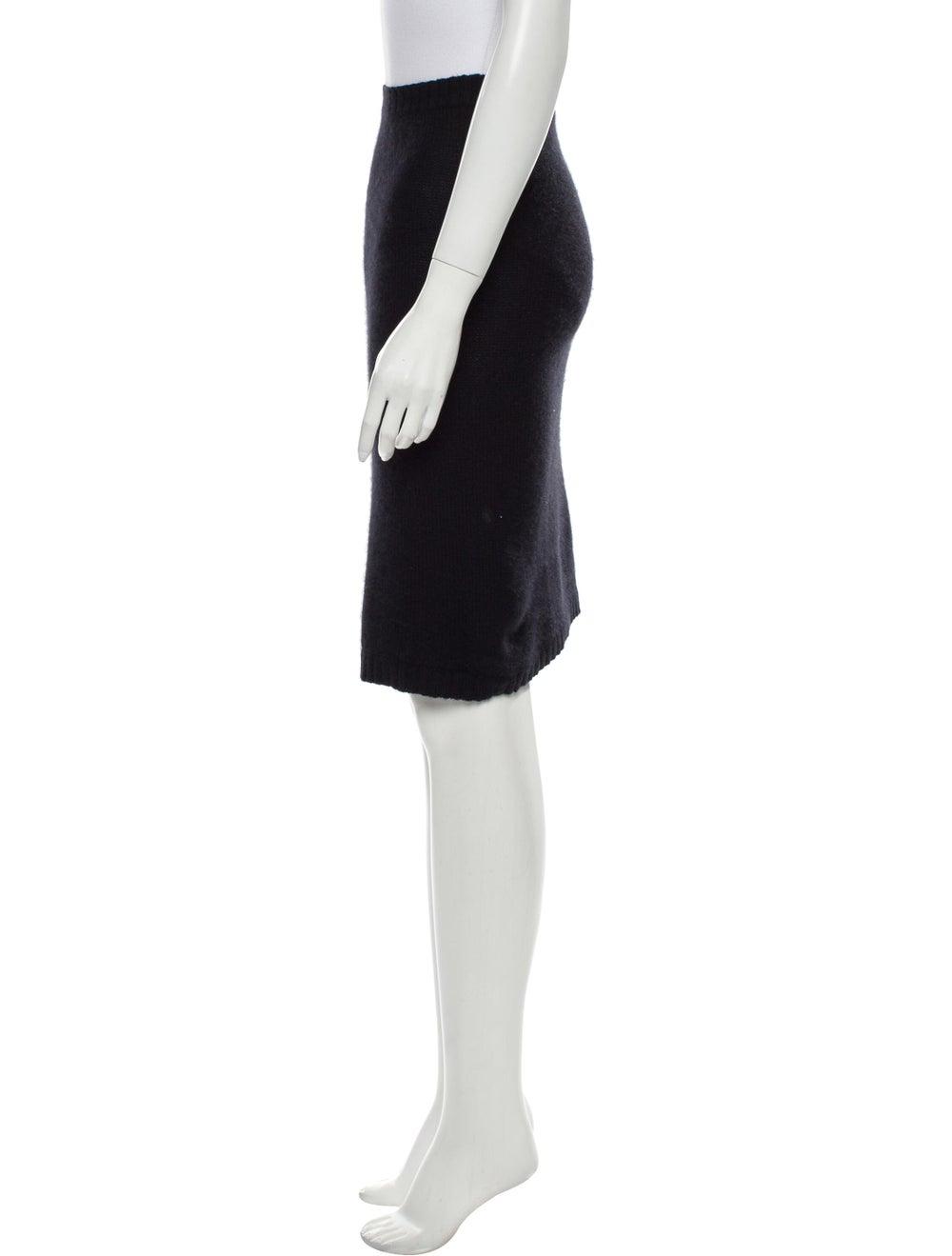 Acne Studios Angora Knee-Length Skirt Black - image 2