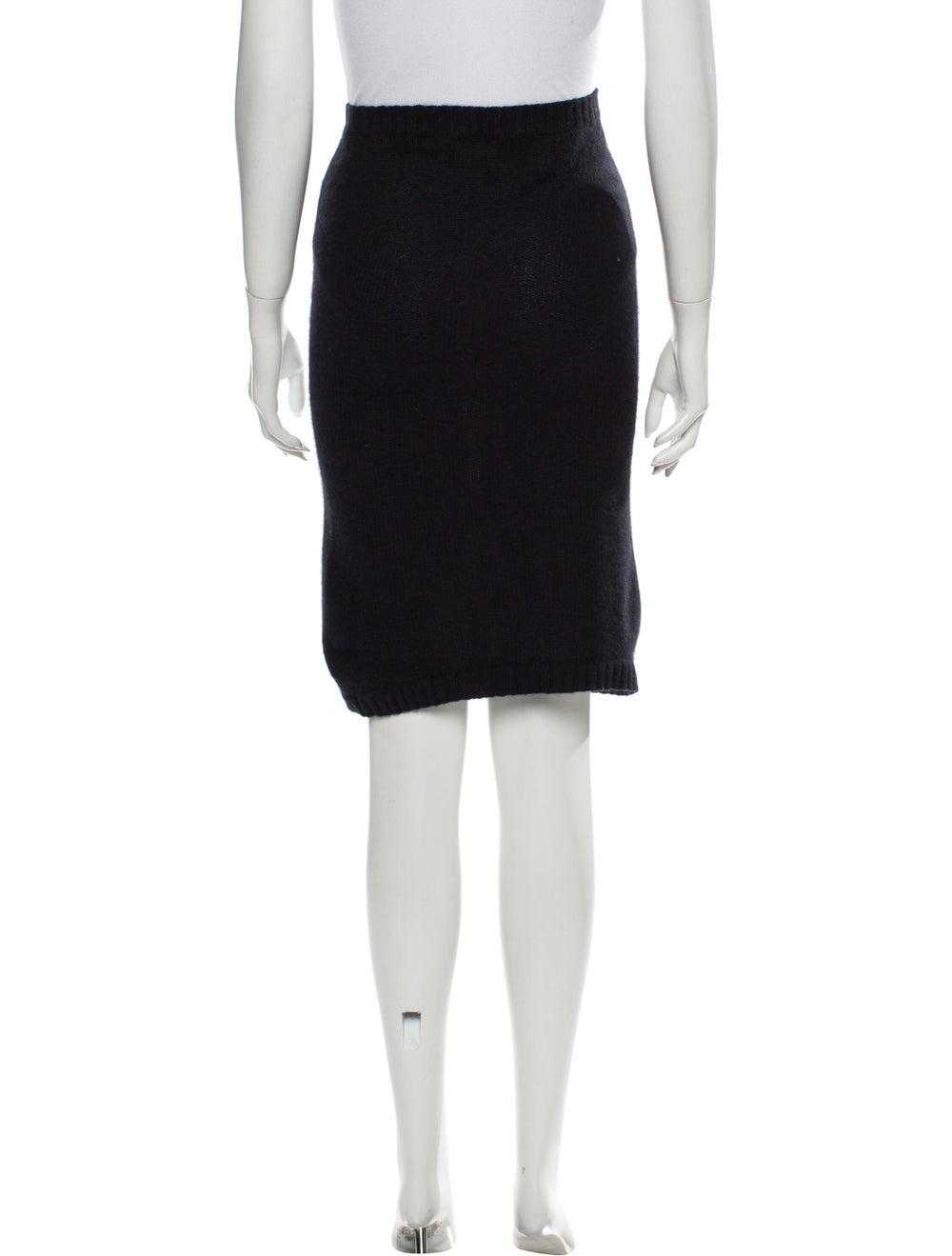 Acne Studios Angora Knee-Length Skirt Black - image 3