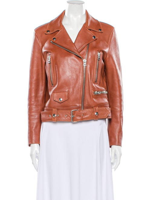 Acne Studios Mock Leather Jacket Leather Biker Jac