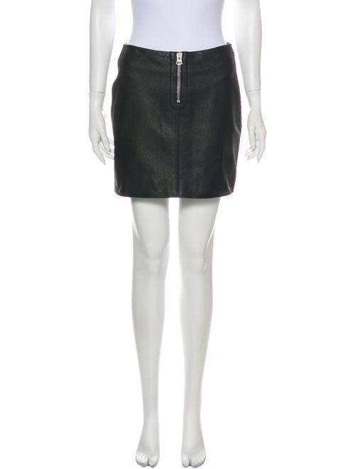 Acne Studios Goat Leather Mini Skirt Black