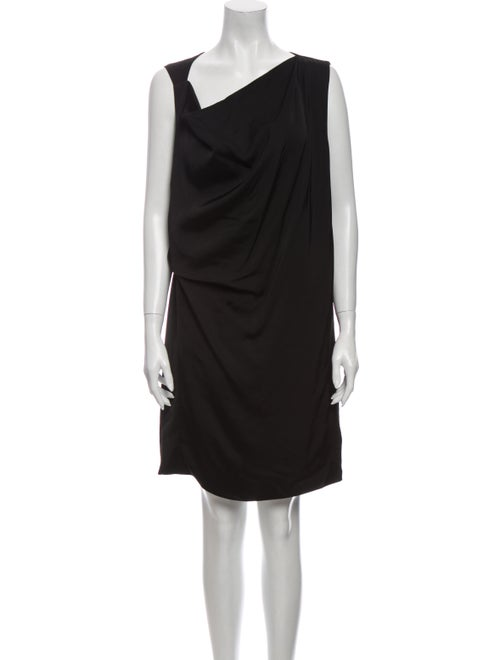 Acne Studios Asymmetrical Mini Dress Black