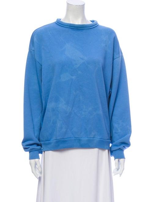 Acne Studios Tie-Dye Print Cowl Neck Sweatshirt Bl