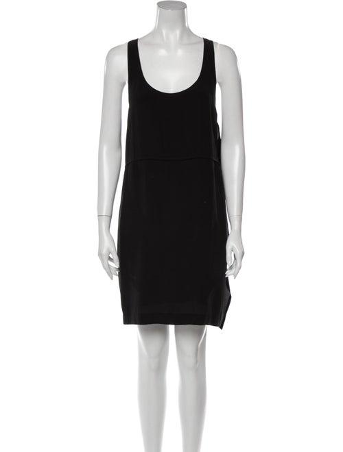 Acne Studios Silk Mini Dress Black