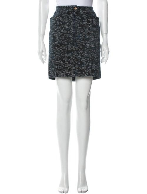 Acne Studios Printed Mini Skirt Blue